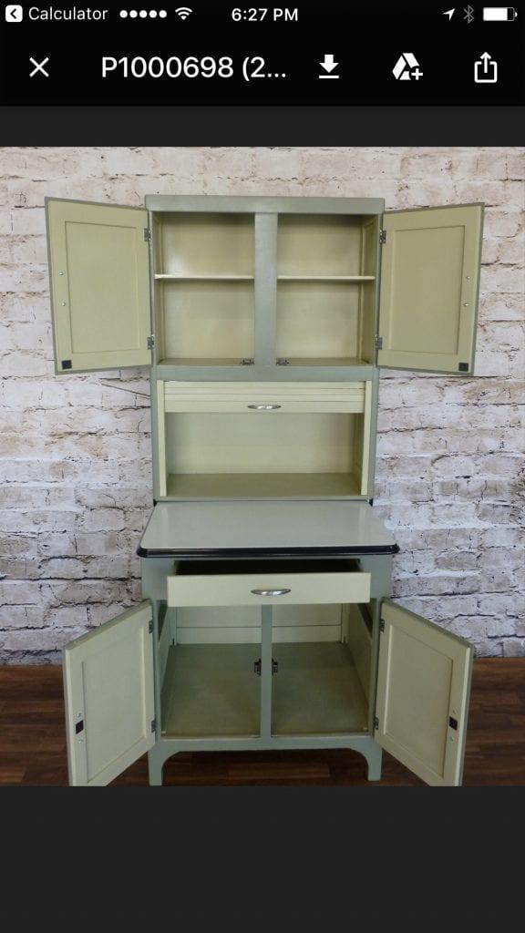1930s 40s Hoosier Cabinet The Back Door Furnishings